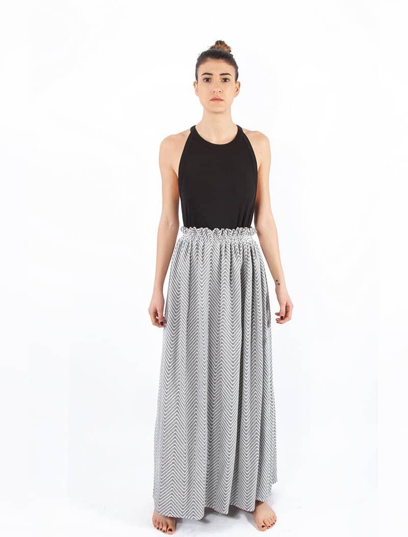 Chevron Skirt - 100 % Organic Cotton