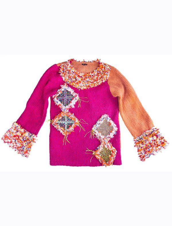Hand Beaded Rococo sweater