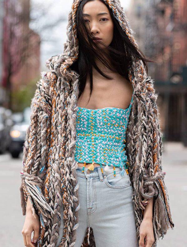 Gaia Braided Hoodie Jacket