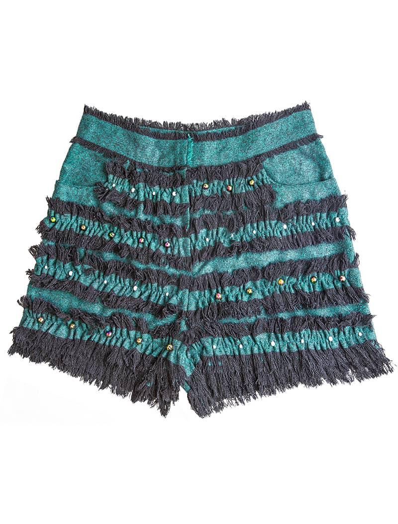 Raw Silk Short - Ocean Green